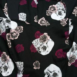 TORRID skull and roses rockabilly style dress